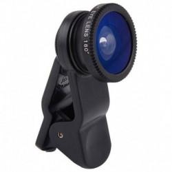 Universal Clip-on Macro Fisheye Lens 3 In 1 Lens - Black