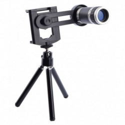 Xtra 8X Optical Zoom Telescope Mobile Camera Lens Kit with Tripod and Adjustable Holder