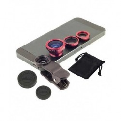 Pluto Plus 3 In 1 Universal Mobile Phone Lens - Assorted Colors