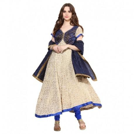 Shakumbhari Blue Pure Georgette Stitched Suit