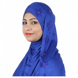 Alizia Enterprise Blue Cotton Stitched Hijabs