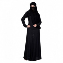 Shifali Collection Black Stitched Burqas with Hijab