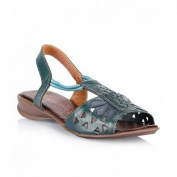 Catwalk Blue Flat Slip-Ons