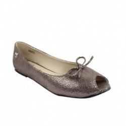 Disney Gray Faux Leather Ballerinas