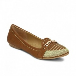 American Swan Belle Brown Ballerinas