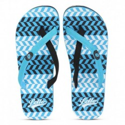 Lotto Venecia Blue and Black Flip Flops