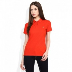 United Colors of Benetton Orange Solid T-Shirt