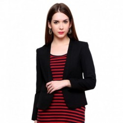 Pannkh Black Polyester Blend Blazers