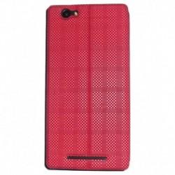 Mercator Premium Diary Flip Cover for Xolo Era 4G - Red