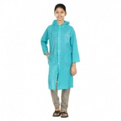 Rainfun Blue Polyester Short Raincoat