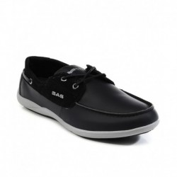GAS Black Boat Style Shoes