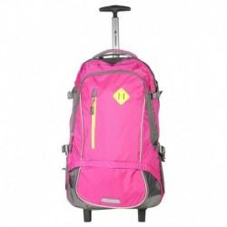 Sonada Pink 2 Wheel Trolley Backpack