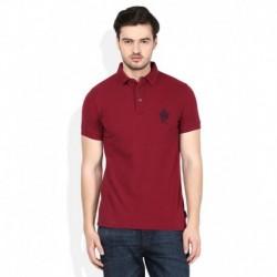 FCUK Maroon Half Sleeves Polo T-Shirt