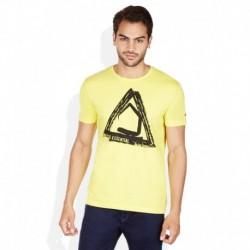 Being Human Yellow Round Neck Printed T-Shirt