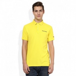 Being Human Yellow Solid Polo T Shirt