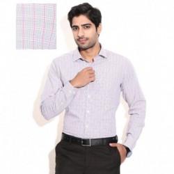 Wills Lifestyle Gray Formal Shirt