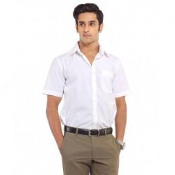 Venga White Cotton Regular Fit Casual Shirt