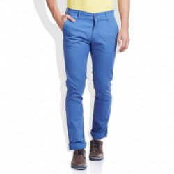 Pepe Jeans Blue Slim Fit Casual Trousers