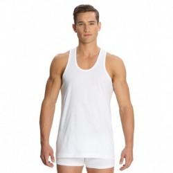 Jockey White Cotton Vests - Pack Of 3