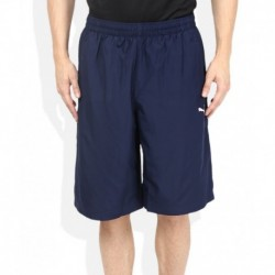 Puma Navy Blue Solid Shorts