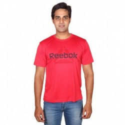 Reebok Mstaff Red Nylon Running T Shirt