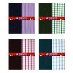 Gwalior Suiting And Shirting Poly Blend Unstitched Shirts & Trousers - Set Of 8 (4 Pant And 4 Shirt)