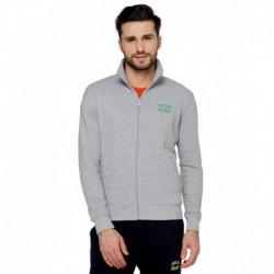 Proline Grey Solid Zippered Sweatshirt