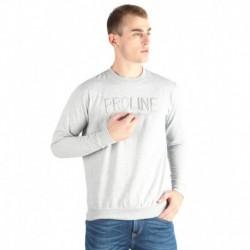 Proline Grey Solid Sweatshirt