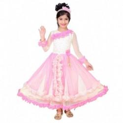 nterprises Pink and Beige Frock