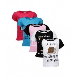 Goodway Pack Of 5 Did You Know  Themed T-Shirts For Girls