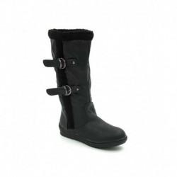 Belle Gambe Black Flat Boots