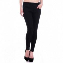 Hightide Black Cotton Lycra Jeggings