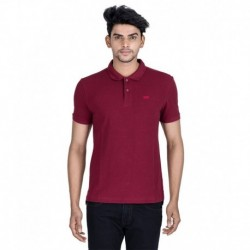 LeviS Red Basic Polo T Shirt