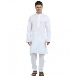 FTC White Cotton Kurta Pajama