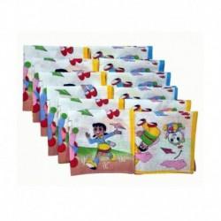Bellegirl Cotton Multicolor Kids Handkerchief - Pack Of 12